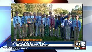 Good morning from students at Loyola Blakefield - Video