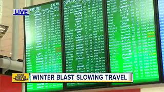 Winter weather causing travel issues - Video