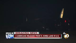 3 Americans released from N. Korea land in U.S. - Video