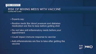 Risks of mixing medications and COVID vaccines