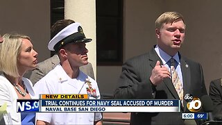 Trial continues for Navy SEAL accused of murder
