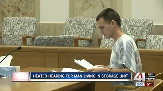 Husband of woman found in cooler yells in Johnson County court - Video