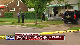 Pregnant mother, man shot and killed on Detroit's southwest side - Video