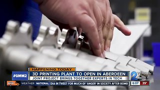 3-D printing plant for military weapons opens in Aberdeen - Video