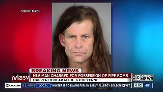 Man indicted after pipe bomb found at North Las Vegas home - Video