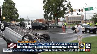 Possible tornado hits Salisbury Monday - Video