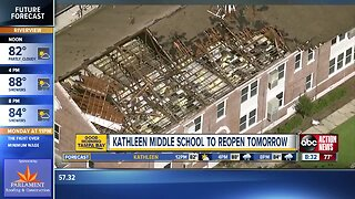 Kathleen Middle getting ready to re-open after tornado damage
