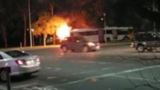 Flames Erupt From Adelaide Bus, Forcing Evacuation - Video