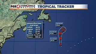 Subtropical storm Debby forms in the Atlantic - Video