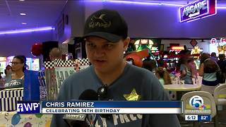 Birthday party held for teen with autism