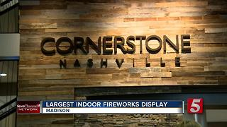 Indoor Fireworks Show Held At Cornerstone Church - Video