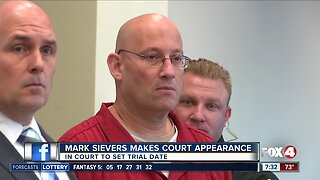 Mark Sievers makes court appearance Monday