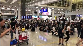 Protesters occupy Hong Kong International Airport cancelling all departure flights