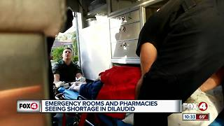 Nationwide shortage of painkillers affecting local hospitals.