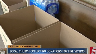 Belmont United Methodist Collects Items For Wildfire Victims - Video