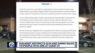 Walmart to raise minimum age to purchase a firearm - Video