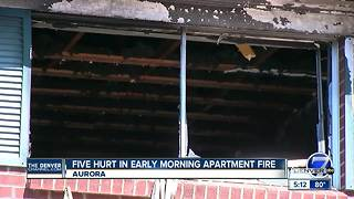 5 people hurt in early-morning apartment fire in Aurora - Video