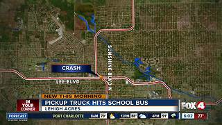 Driver cited for hitting school bus - Video