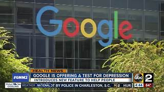 Google now offers a test, potential help for depression - Video