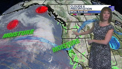 Monday's rain and snow taper off by mid-day, but showers return by Tuesday morning