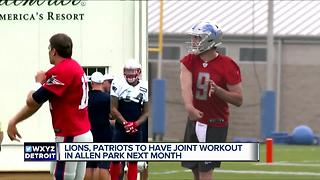 Lions and Patriots to work out together before preseason game in August