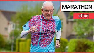 Brit pensioner with dementia about to tackle his 131st marathon - aged 78