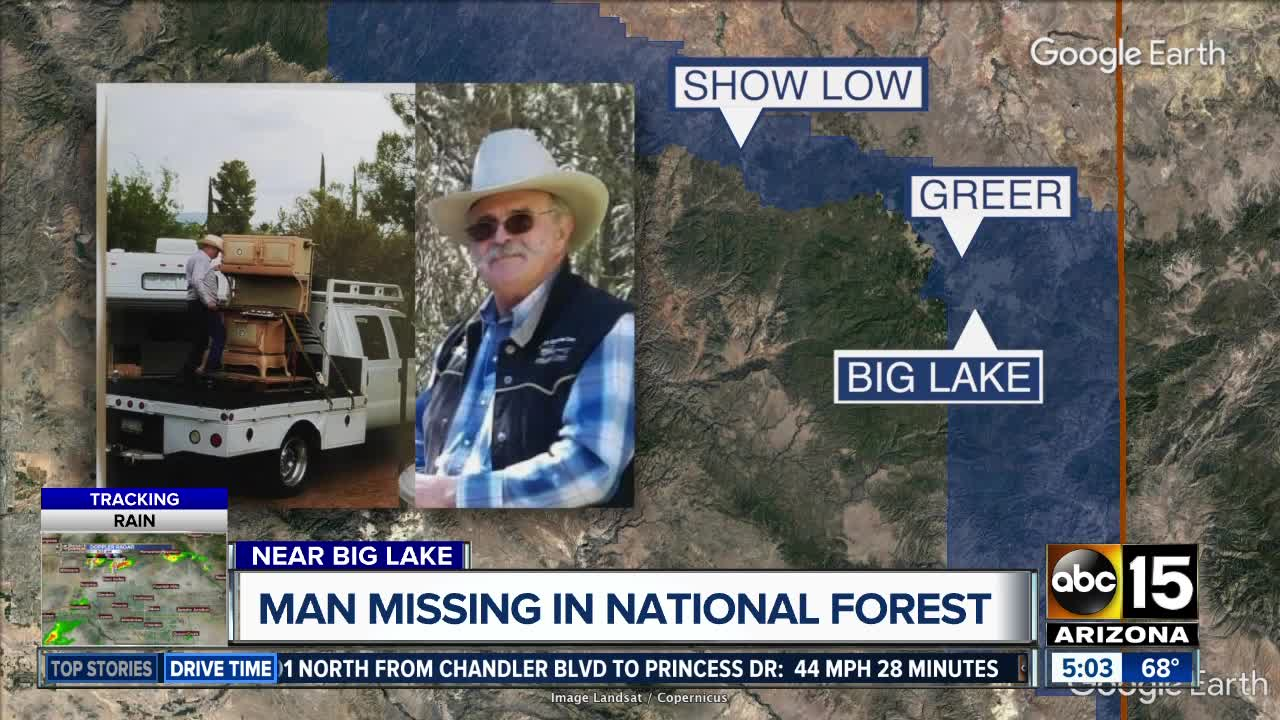 Man missing in Apache-Sitgreaves National Forest