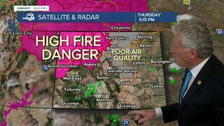 Hot and dry conditions persist across Colorado, fire danger is high