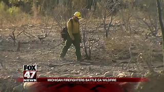 Michigan firefighters help battle California wildfires - Video