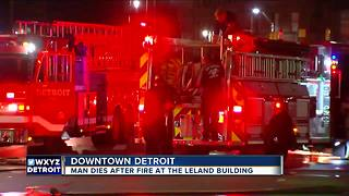 One dead after fire in downtown Detroit apartment