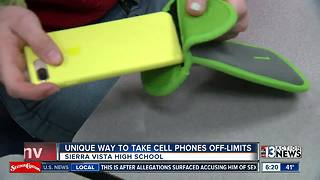 Las Vegas high school experiments with locking students' phones away during class - Video