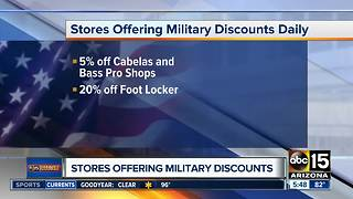 Valley stores offering military discounts - Video