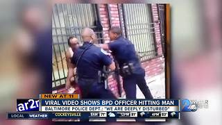 Community reacts to viral video involving two Baltimore police officers - Video