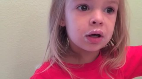 Little Girl Is Caught Red-Handed Eating Donuts, Has The Cutest Response
