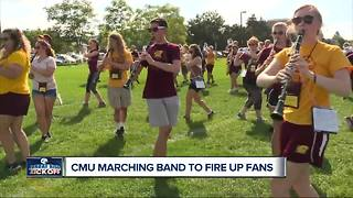 Central Michigan marching band performing on Monday Night Football - Video