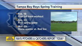 Tampa Bay Rays Spring Training Pitchers and Catchers Report Soon - Video