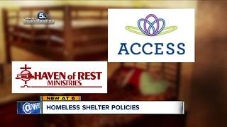 Akron shelter separates homeless mother from teenage son, defends policy - Video