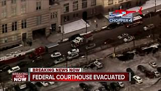 Fire Department gives all clear at Federal Courthouse after suspicious package found - Video