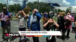 People pack into MOSI for solar eclipse - Video