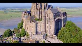 Drone Captures Stunning Footage of Le Mont Saint-Michel in Normandy - Video