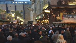 Tottenham fans celebrating in Dortmund - Video