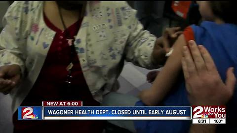 Wagoner Health Department closed due to shortage of staff