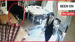 """""""Convincing"""" ghostly child-like figure stalking a pub waitress just days before HALLOWEEN"""
