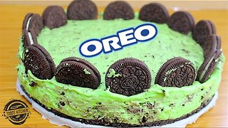 No-bake Oreo mint cheesecake recipe - Video