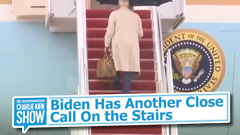 Biden Has Another Close Call On the Stairs