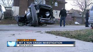 Family of 5 injured in hit-and-run rollover crash on Milwaukee's north side - Video
