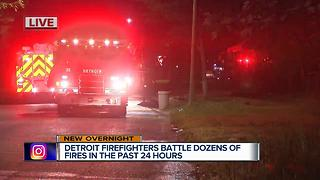 Detroit firefighters battle dozens of fires in past 24 hours - Video