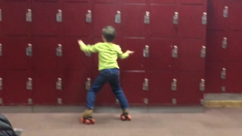 Young Boy Does A Killer Dance Routine On Roller Skates