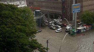 Rain Turns Ankara Mall Parking Lot Into Lake - Video