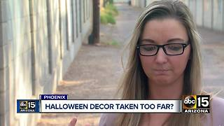 Did these Halloween decorations in a Phoenix neighborhood go to far? - Video